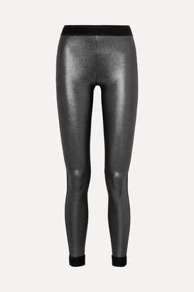 NO KA 'OI NO KA'OI - Mahina Kala Metallic Stretch Leggings - Black