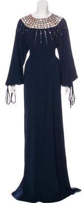 Oscar de la Renta 2018 Embellished Silk Gown w/ Tags