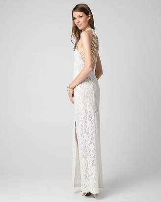 Le Château Lace Beaded Back Gown