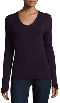 Saks Fifth Avenue Folio Cashmere Ribbed V-Neck Cashmere Pullover