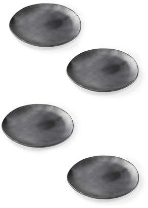 St. Frank Set-Of-Four Black Clay Salad Plate