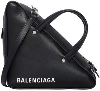 Balenciaga Small Triangle Leather Shoulder Bag