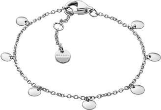 Skagen Anette Silver Tone Charm Bracelet