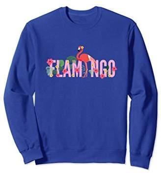 Flamingo Ornamental Floral Letters Cute Tropical Sweatshirt