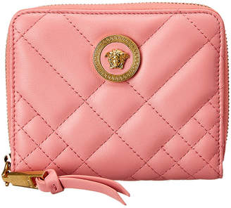 Versace Medusa Quilted Leather Small Zip Around Wallet