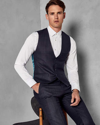 Ted Baker DEBCHEW Checked wool vest