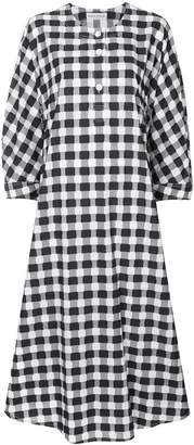 Sonia Rykiel checked oversized shirt dress