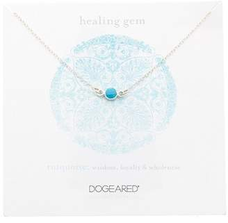Dogeared Sterling Silver Healing Gem Turquoise Station Necklace