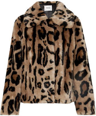 STAND Gilbertine Leopard-print Faux Fur Jacket
