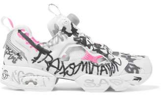 Vetements Reebok Instapump Fury Printed Neoprene And Mesh Sneakers - White