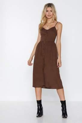 Nasty Gal Line-n Your Closet Midi Dress