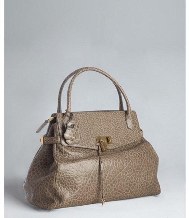 Marc Jacobs malt glazed calfskin 'Camille' satchel