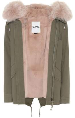 Yves Salomon Army Fur-trimmed cotton jacket