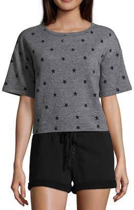 Flirtitude Short Sleeve Sweatshirt - Juniors