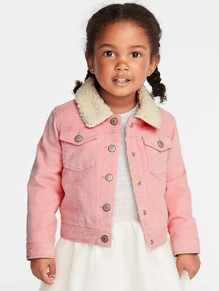 Old Navy Sherpa-Lined Corduroy Trucker Jacket for Toddler Girls