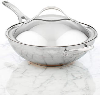 """Anolon Nouvelle Copper Stainless Steel 12.5"""" Covered Chef's Pan"""