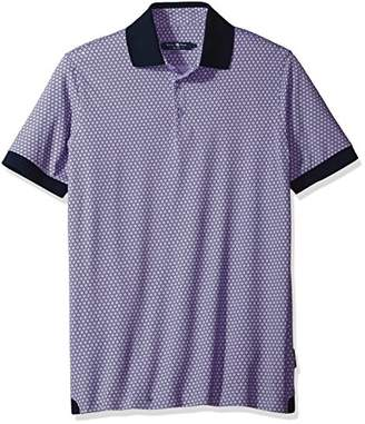 Stone Rose Men's Honeycomb Printed Polo Shirt