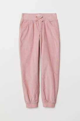 H&M Lined Corduroy Pants - Pink