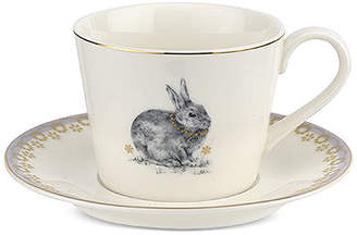 Spode Meadow Lane Teacup & Saucer Set, Lilac