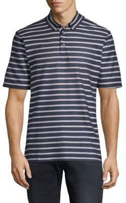 Paul & Shark Striped Short-Sleeve Cotton Polo