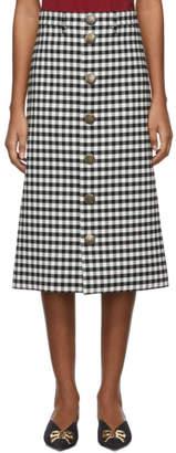 Balenciaga Black and White Snapped Skirt