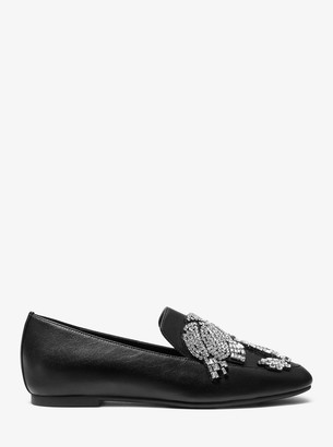 MICHAEL Michael Kors Viera Embellished Leather Loafer