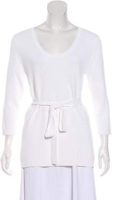 Max Mara Belted Long Sleeve Top
