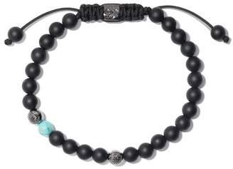 Black Diamond Shamballa Jewels 18kt white gold & beaded Non-Braided bracelet