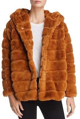 Bloomingdale's Apparis Goldie Banded Hooded Faux-Fur Coat