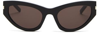 Saint Laurent Grace Acetate Sunglasses - Womens - Black