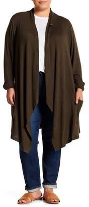 Bobeau Marled 1-Button Cardigan (Plus Size)