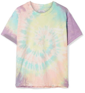 Sprwmn Oversized Printed Tie-dyed Cotton-jersey T-shirt - Yellow