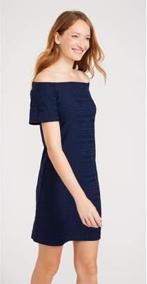 J.Mclaughlin Nomi Off-the-Shoulder Dress in Bamboo Geo Jacquard