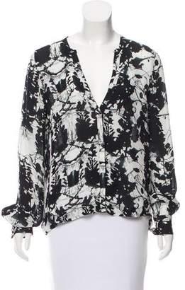 A.L.C. Printed Silk Blouse