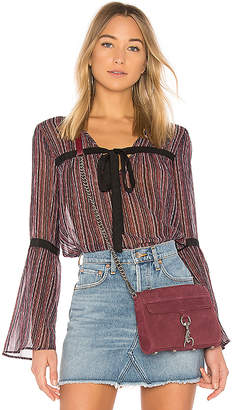 BCBGeneration Bow Tie Bell Sleeve Top