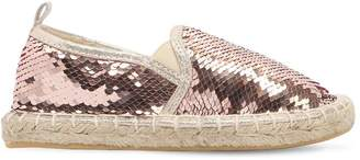Colors of California Sequined Cotton Espadrilles