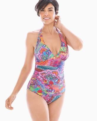 Bleu Rod Beattie Here Comes the Sun Halter Tankini Swim Top