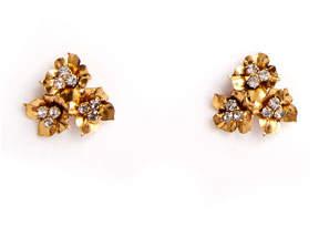 Jennifer Behr Maye Floriform Crystal Stud Earrings