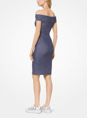 MICHAEL Michael Kors Ribbed Knit Off-the-Shoulder Dress