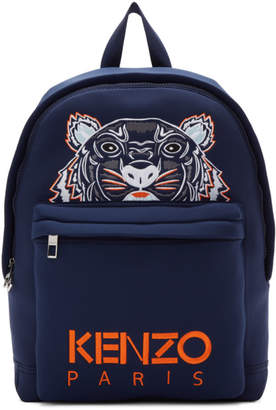 Kenzo Navy Tiger Logo Backpack
