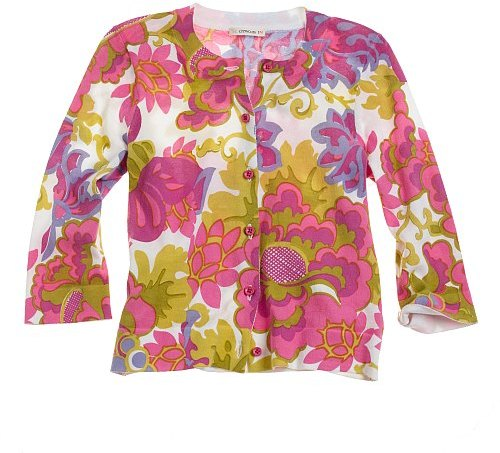 Girls' Martinique-print cardigan