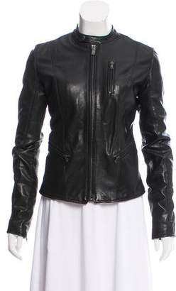 BLK DNM Leather Fitted Jacket
