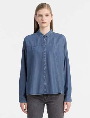 Calvin Klein denim boyfriend shirt