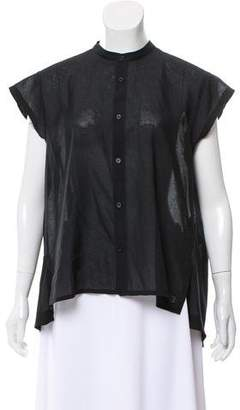 Y-3 Short Sleeve Button-Up Top