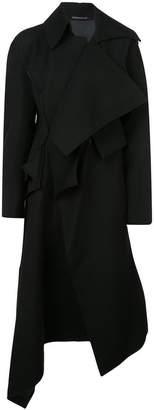 Yohji Yamamoto asymmetric front coat