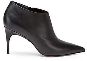 Christian Louboutin Women's Gorgona Point-Toe Leather Booties