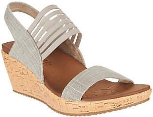 Skechers Sling Back Stretch Wedge Sandals -Smitten Kitten