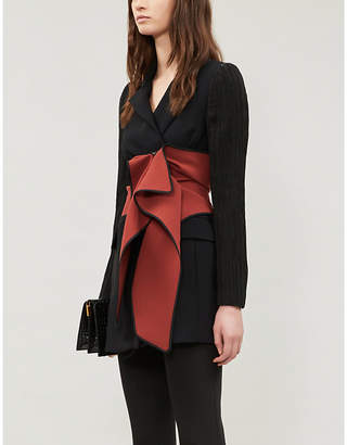 Maticevski Enthusiasm contrast-panel crepe blazer