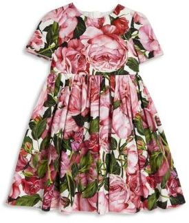 Dolce & Gabbana Toddler's, Little Girl's & Girl's Floral Fit & Flare Dress $475 thestylecure.com