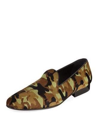 Donald J Pliner Men's Premo Camo-Print Calf Hair Slip-On Loafers
